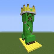 Creeper Statue Drop Machine