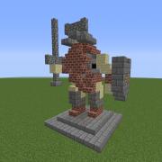 Dwarven Warrior Statue 2
