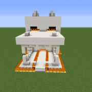 Ender Dragon Skull Survival House
