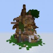 Fantasy Elven Large House  2