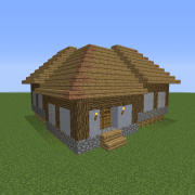 Feudal Japanese Middle Class House