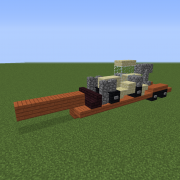 Flatbed Trailer with Construction Vehicle