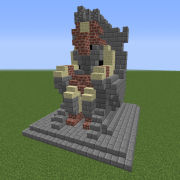 King on Throne Statue 2