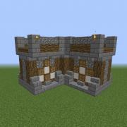 Medieval Puritan City Wall Corner