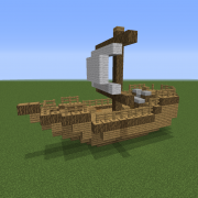 Medieval Small Sailboat