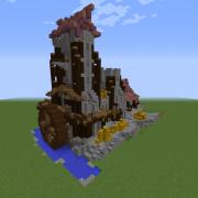 Medieval Steampunk Watermill