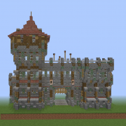 Medieval Wall Gate with Tall Guard Tower v2