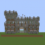 Medieval Wall Gate with Tall Watchtower v2
