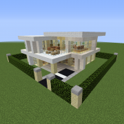 Modern Houses Blueprints For Minecraft Houses Castles Towers And More Grabcraft