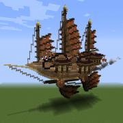 Oriental Steampunk Airship