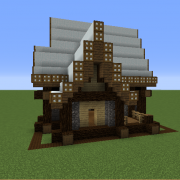 Rustic Medieval Snowy House 1