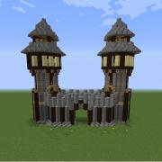 Rustic Medieval Town Gate
