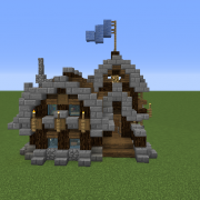 Simple Rustic Small Survival House Blueprints For Minecraft Houses Castles Towers And More Grabcraft