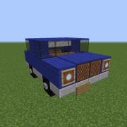 Small Blue Family Car
