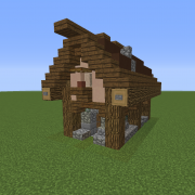 Search Rustic House Blueprints For Minecraft Houses Castles Towers And More Grabcraft