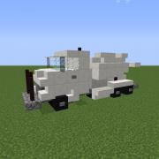 White Cement Truck