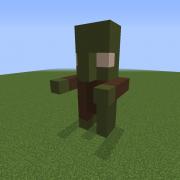 Zombie Villager Statue